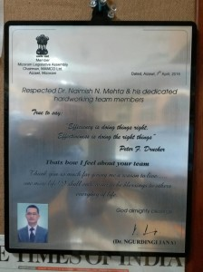 awarded by mizoram legislative assembly