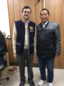 Patient from Arunachal Pradesh gifted traditional Jacket to Dr. Naimish Mehta